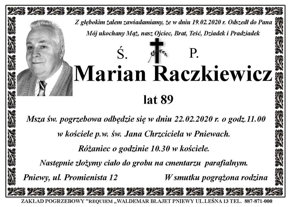 Żyli wśród nas – Marian Raczkiewicz