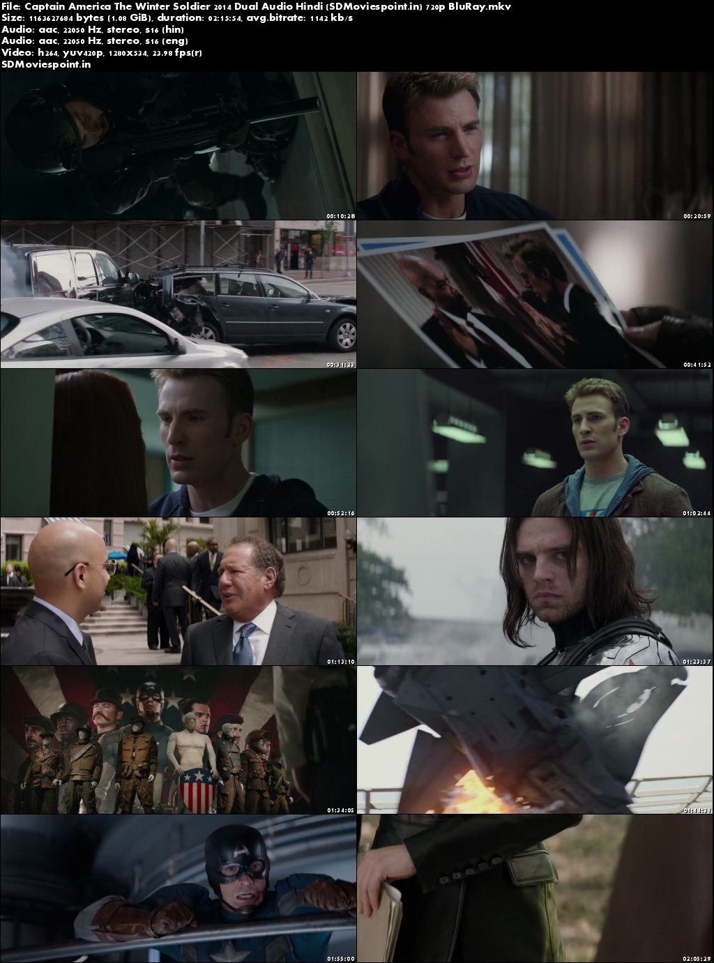 Screen Shots Captain America The Winter Soldier (2014) Full HD Movie Download Hindi Dubbed