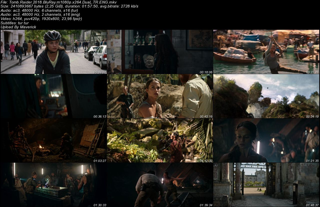 Tomb Raider - 2018 BluRay m1080p DuaL MKV indir