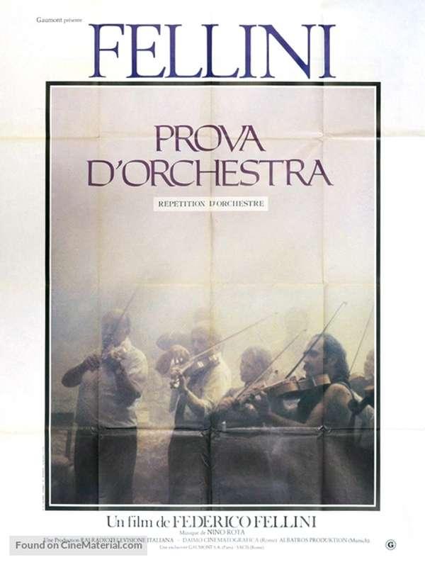 Prova d'orchestra Πρόβα Ορχήστρας Poster