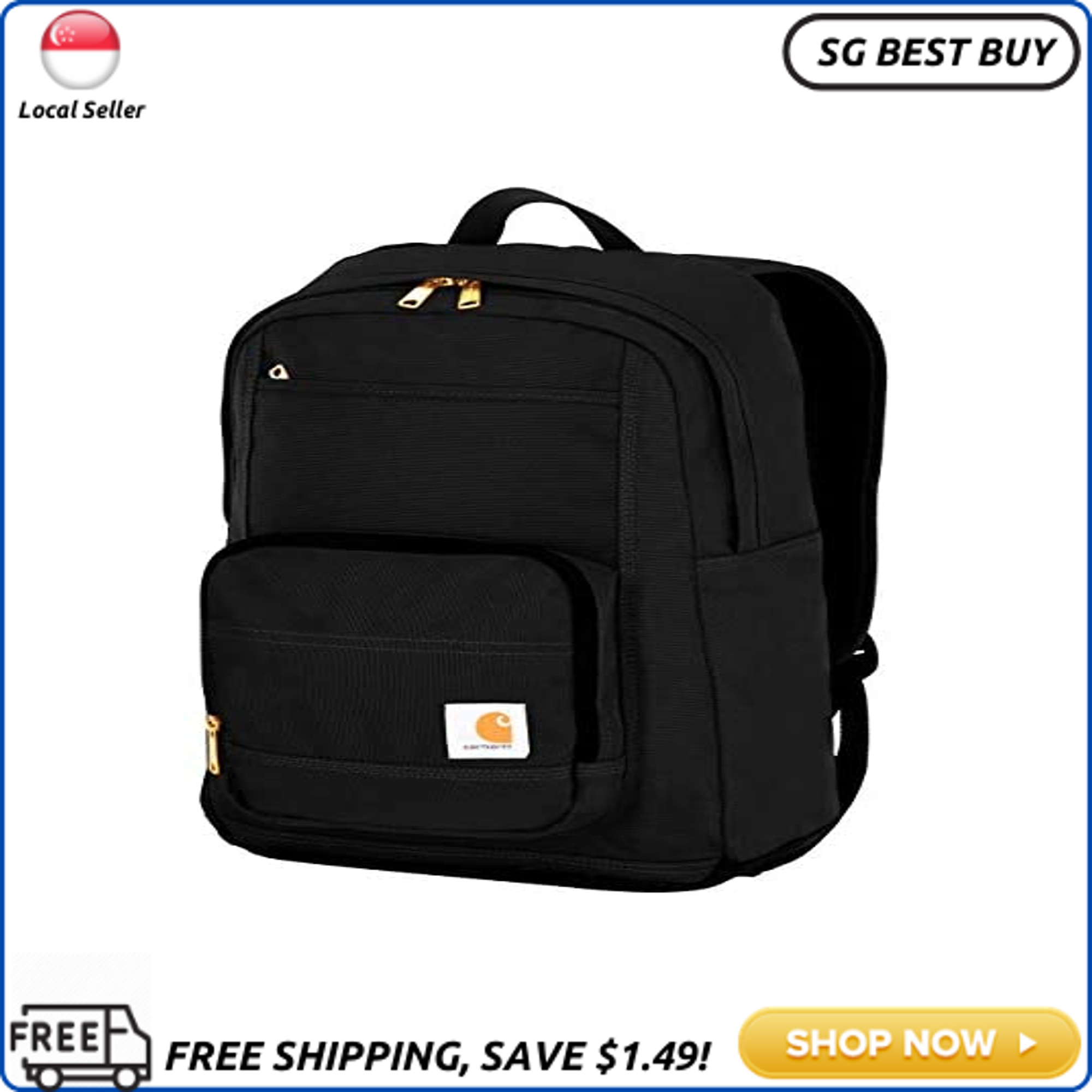 (SG SELLER) Carhartt Legacy Classic Work Backpack with Padded Laptop Sleeve, Black