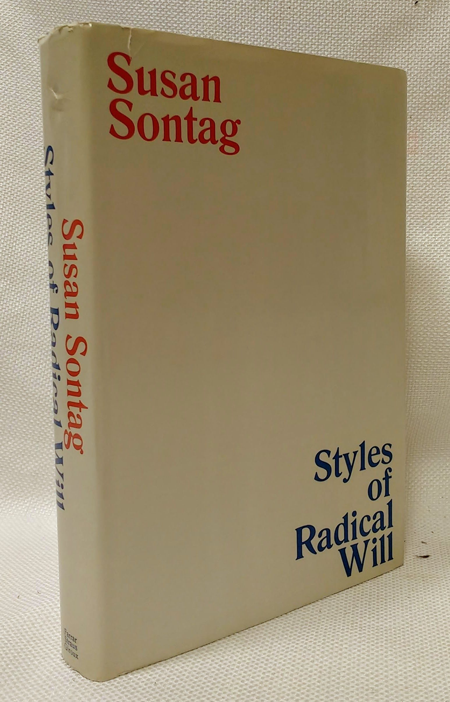 Styles of Radical Will, Sontag, Susan