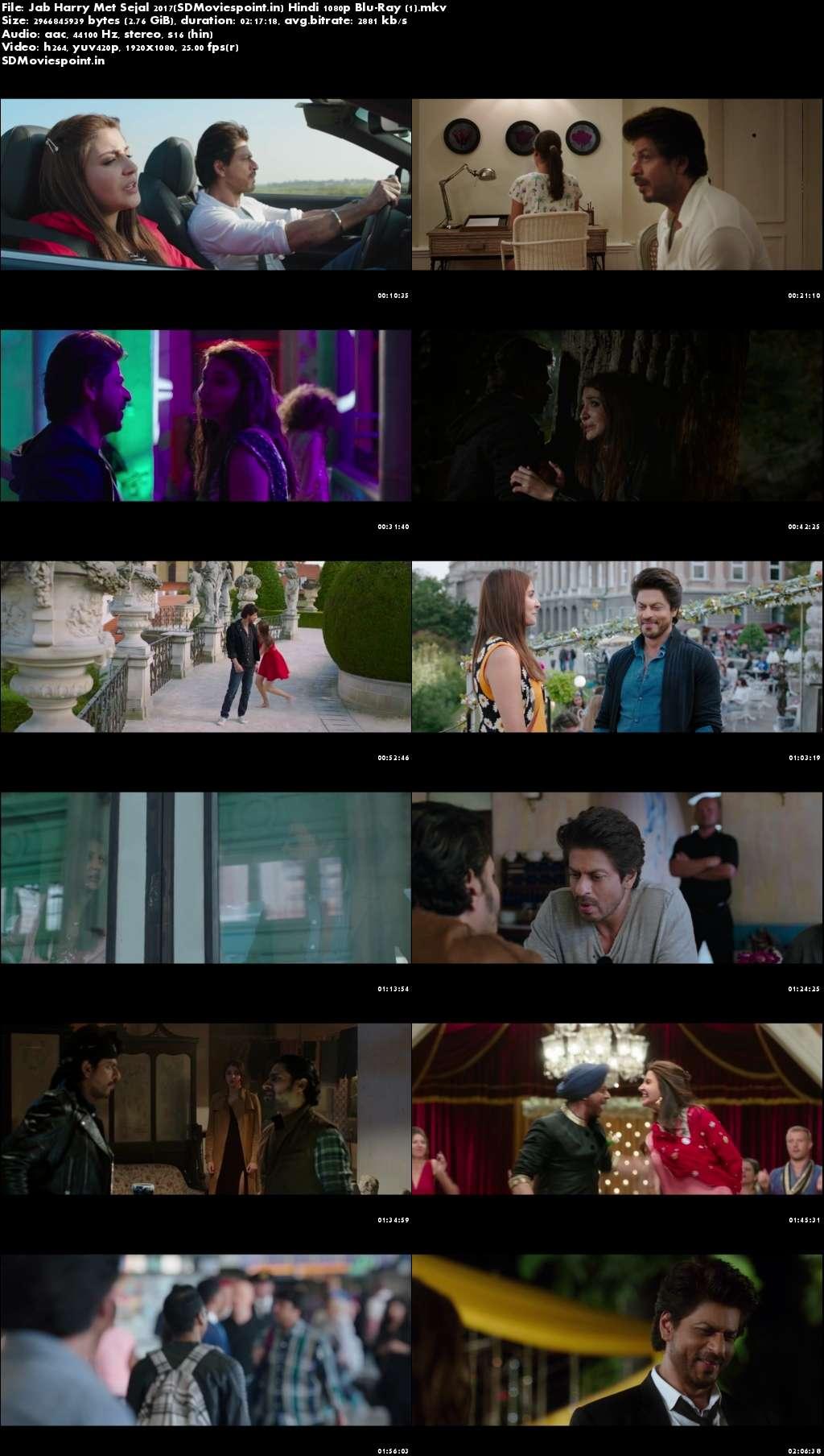 Screen Shots Jab Harry Met Sejal 2017 Full Hindi Movie Download HD 1080p Blu-Ray