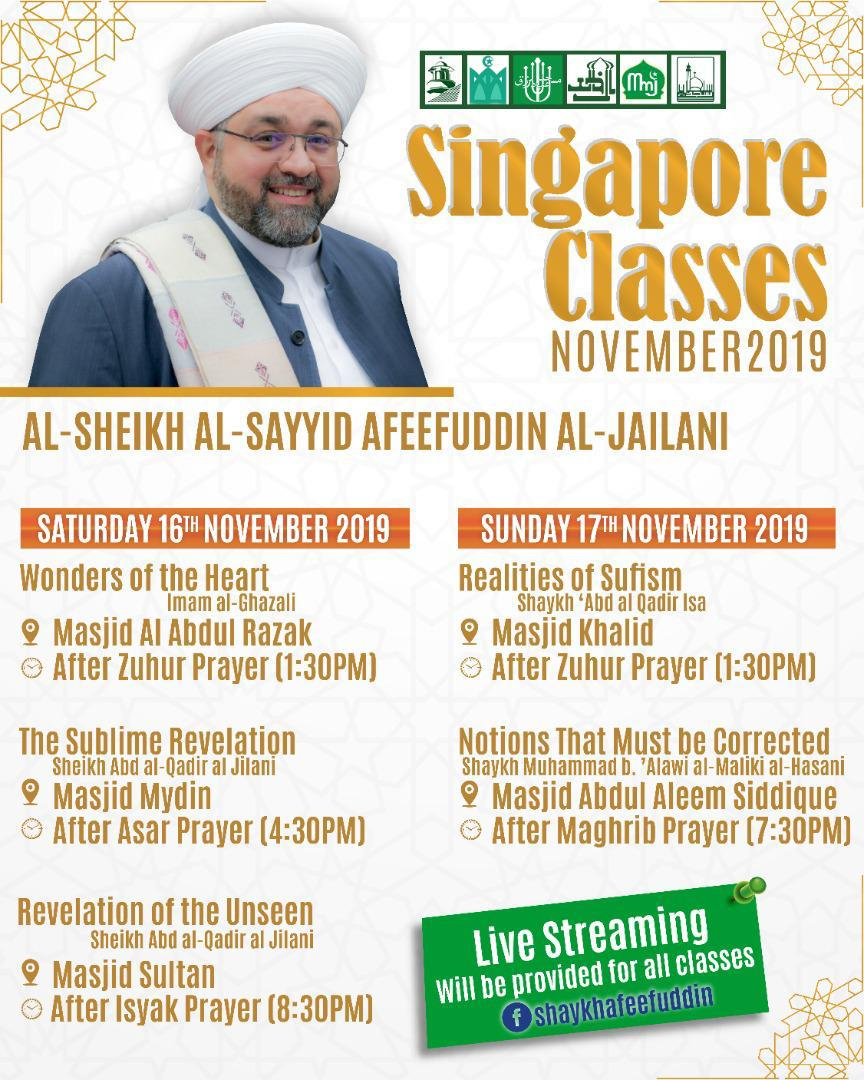 Singapore Classes – Nov 2019