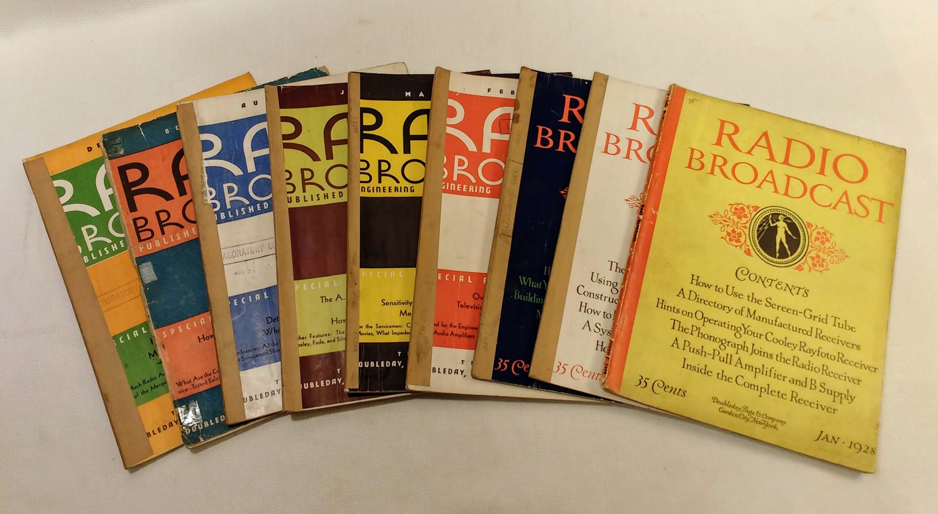 Radio Broadcast Magazine: 9 issues from 1928-1929, Wing, Willis Kingsley [editor]
