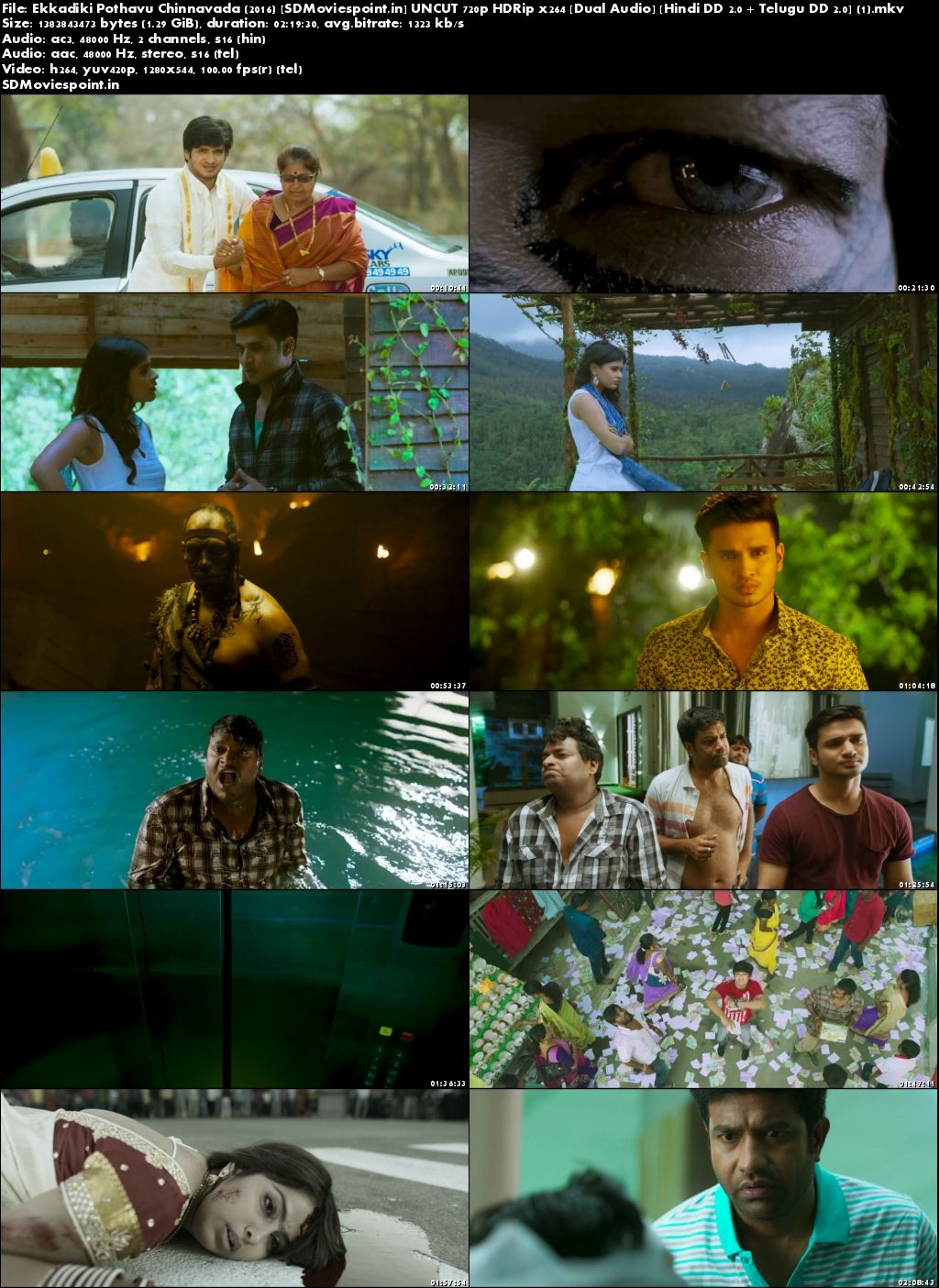 Screen Shots Ekkadiki Pothavu Chinnavada 2016 Full Movie Telugu Dual Audio In Hindi Free Download