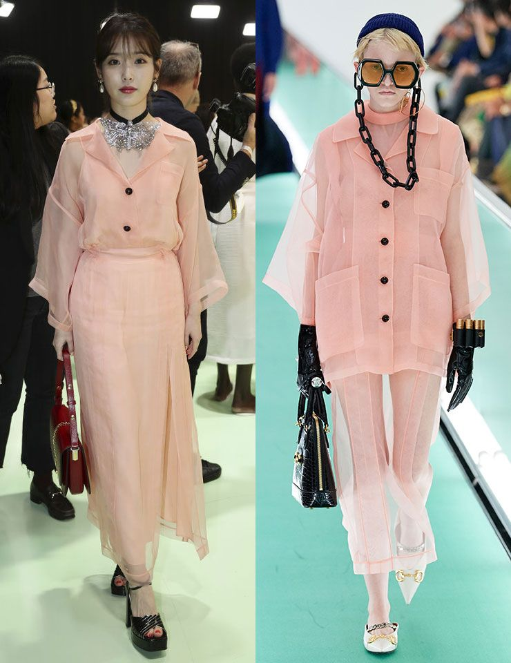 Fashion Week Korean Celebrities K-pop Stars IU Gucci