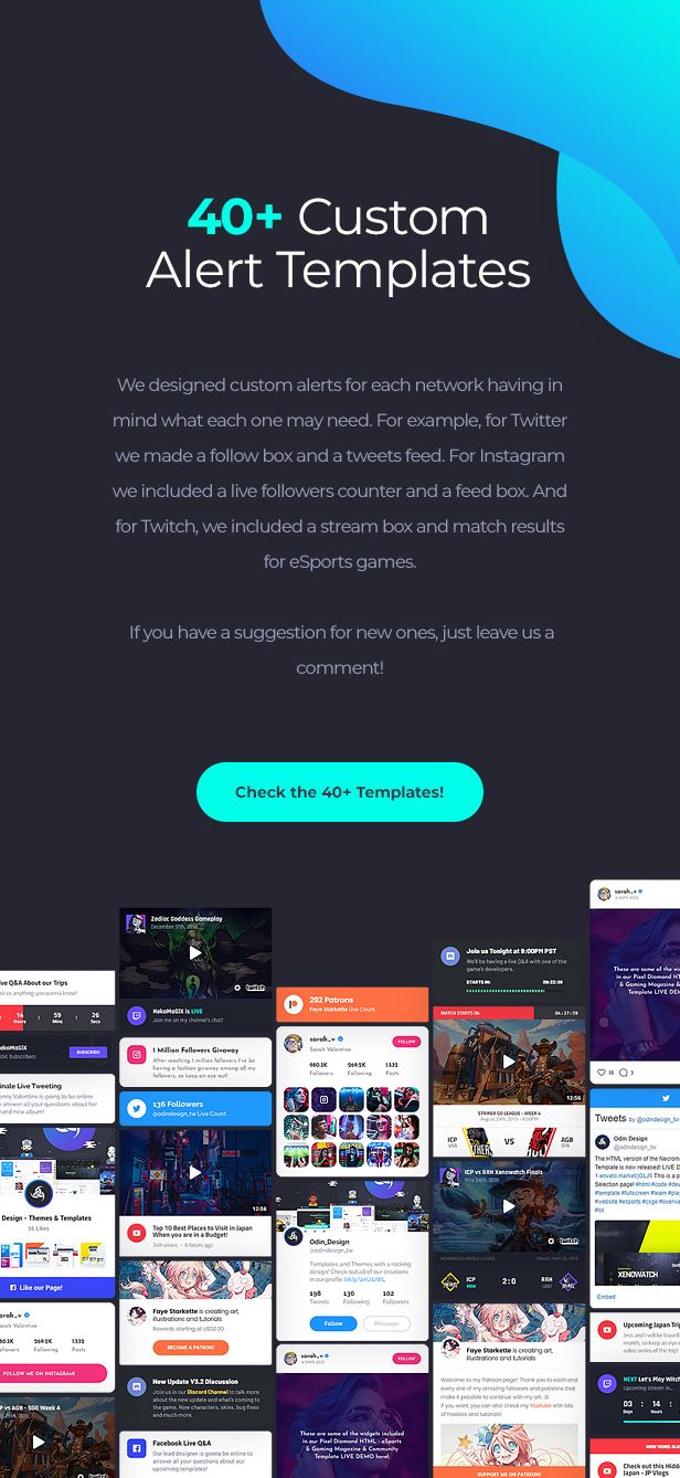 Asgard - Social Media Alerts & Feeds Javascript Builder - Facebook, Instagram, Twitch and more! - 11