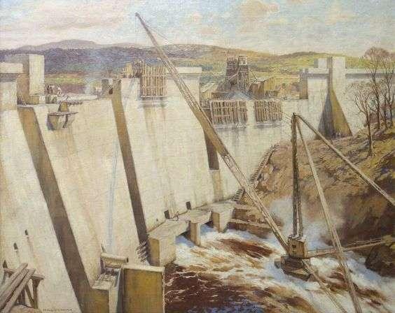Tongland Dam under construction