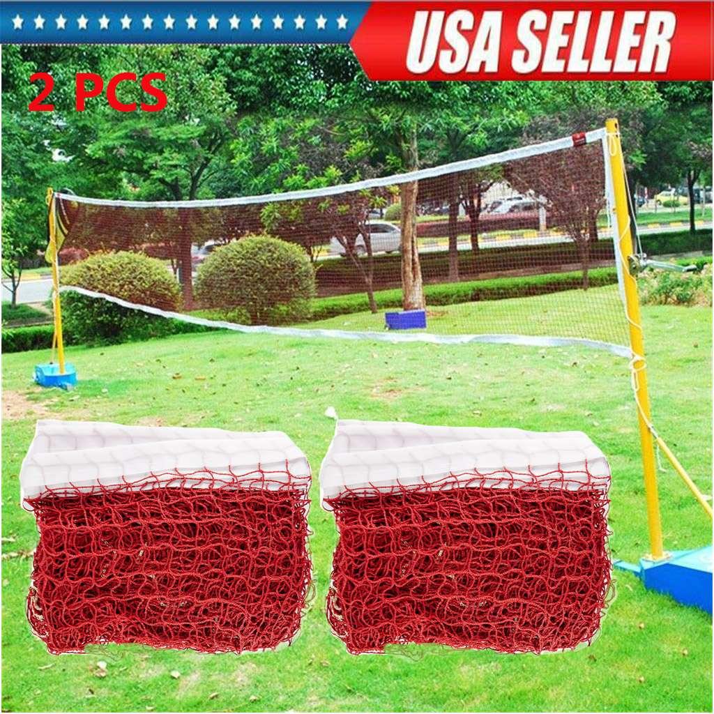 Badminton Tennis Volleyball Net Nylon Sports Mesh Beach Garden Indoor Outdoor US