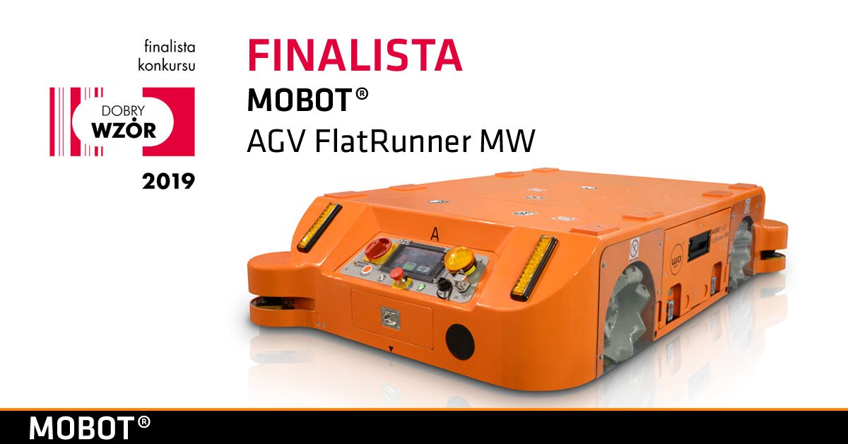 MOBOT AGV FlatRunner MW finalistą konkursu Dobry Wzór 2019!
