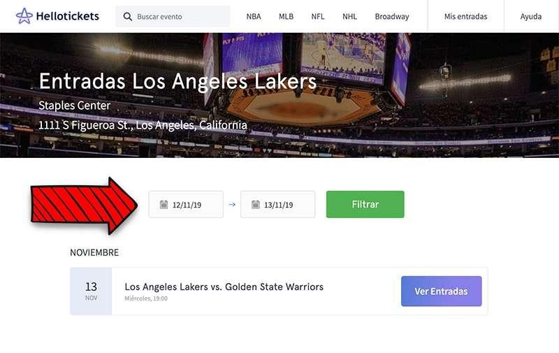comprar entradas con descuento para ver un partido de la NBA