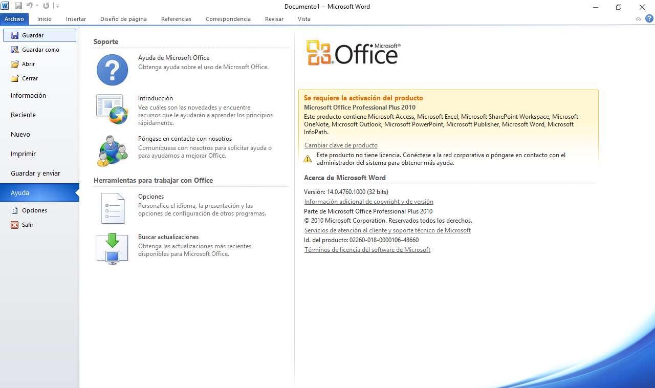 office 2010 pro plus activador