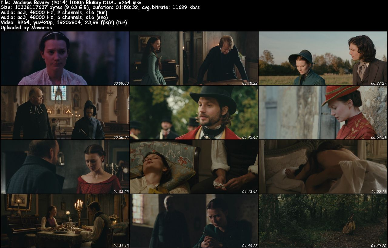 Madame Bovary - 2014 BluRay 1080p DuaL MKV indir