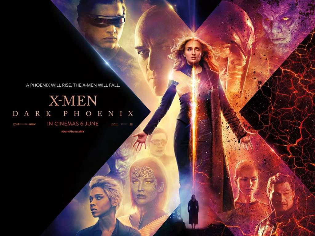 X-Men: Ο Μαύρος Φοίνικας (X-Men: Dark Phoenix) Quad Poster Πόστερ