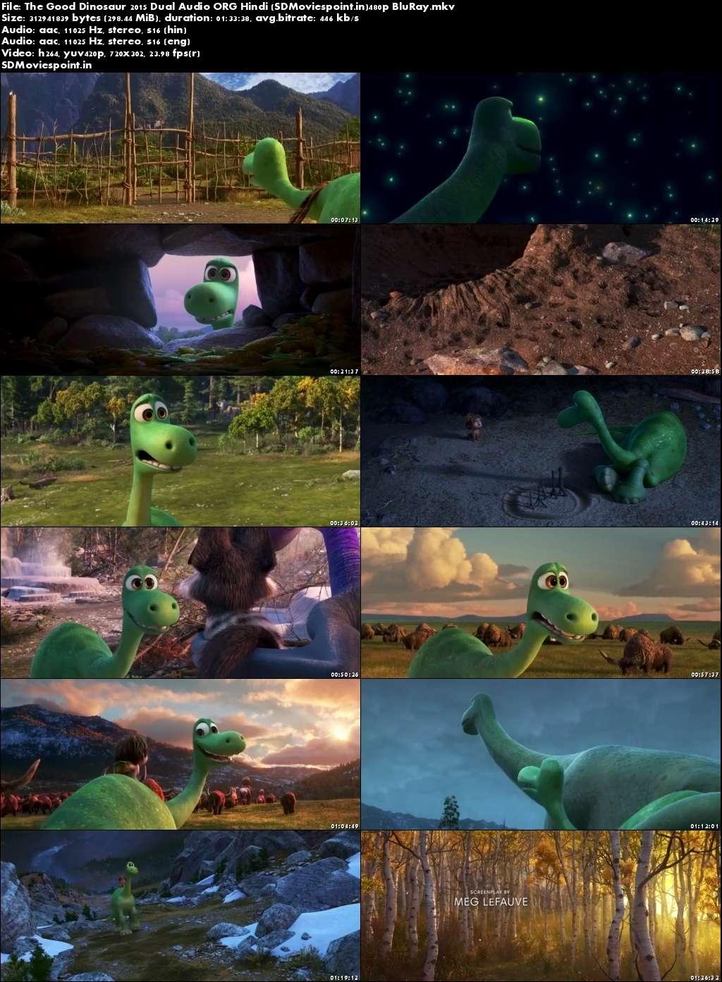 Screen Shots The Good Dinosaur (2015) Full Hindi Movie Download Dual Audio