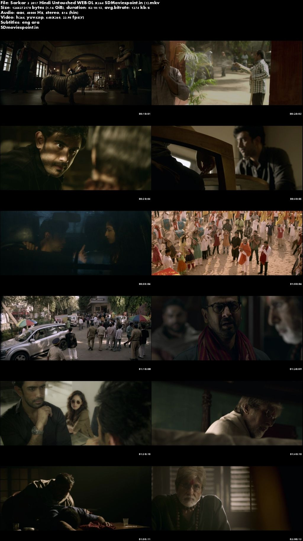 Screen Shots Sarkar 3 (2017) Full HD Hindi Movie Download Free 720p