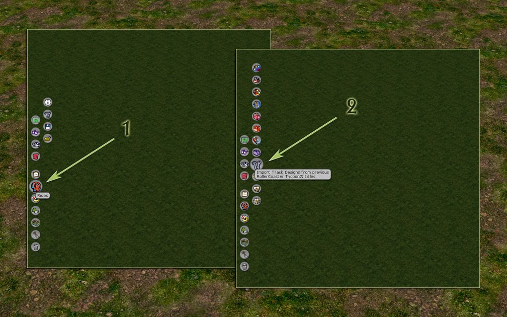 Image 1 Displaying How To Find The In-Game Tracks Converter for FlightToAtlantis.net: RCT3 FAQ: Using RCT3's Legacy Tracks Converter