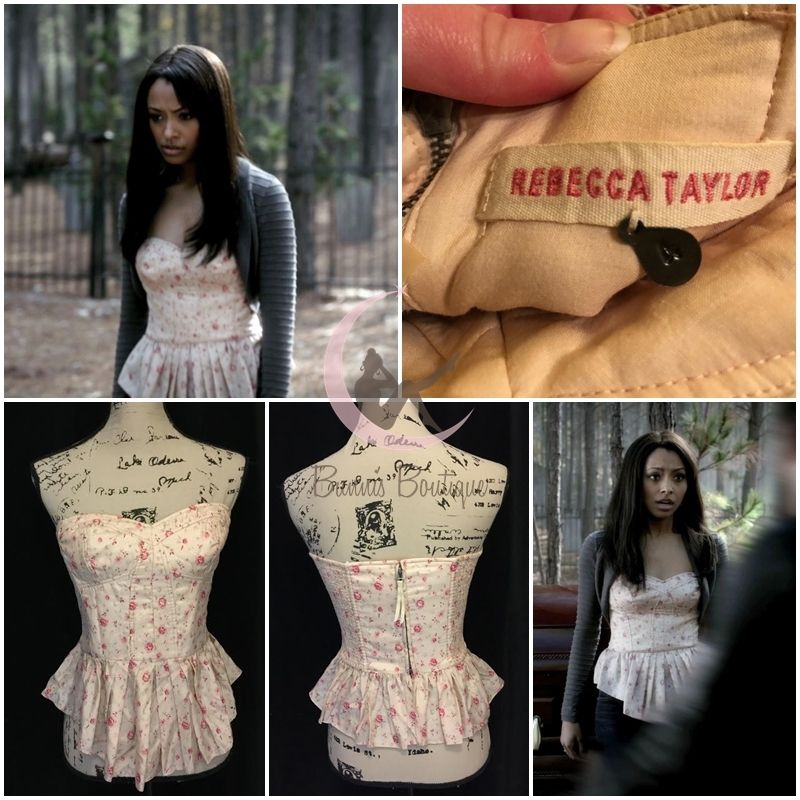 ASO Bonnie Bennett Rebecca Taylor Quilted Corset Sz 4 The