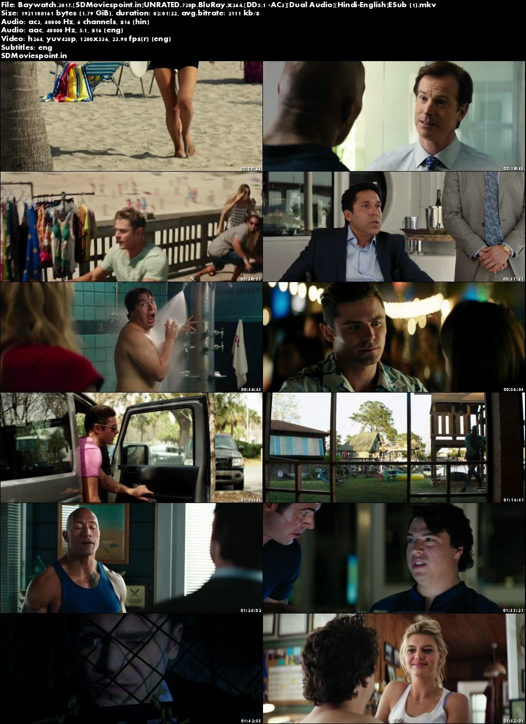 Screen Shots Baywatch 2017 Full Movie Download Hindi Dual Audio Free 720p BluRay