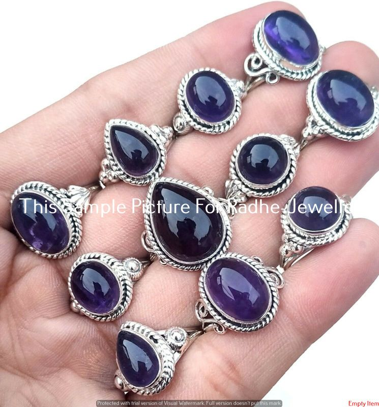 Amethyst /& Mix Gemstone 925 Sterling silver plated Wholesale Lot Fashion Rings