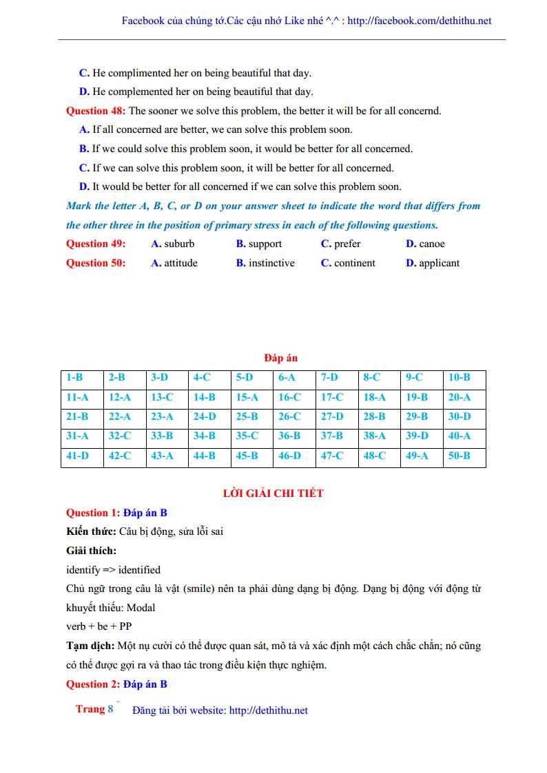 De thi giai chi tiet mon tieng Anh 2018 THPT Chuyen Ha Giang trang 18