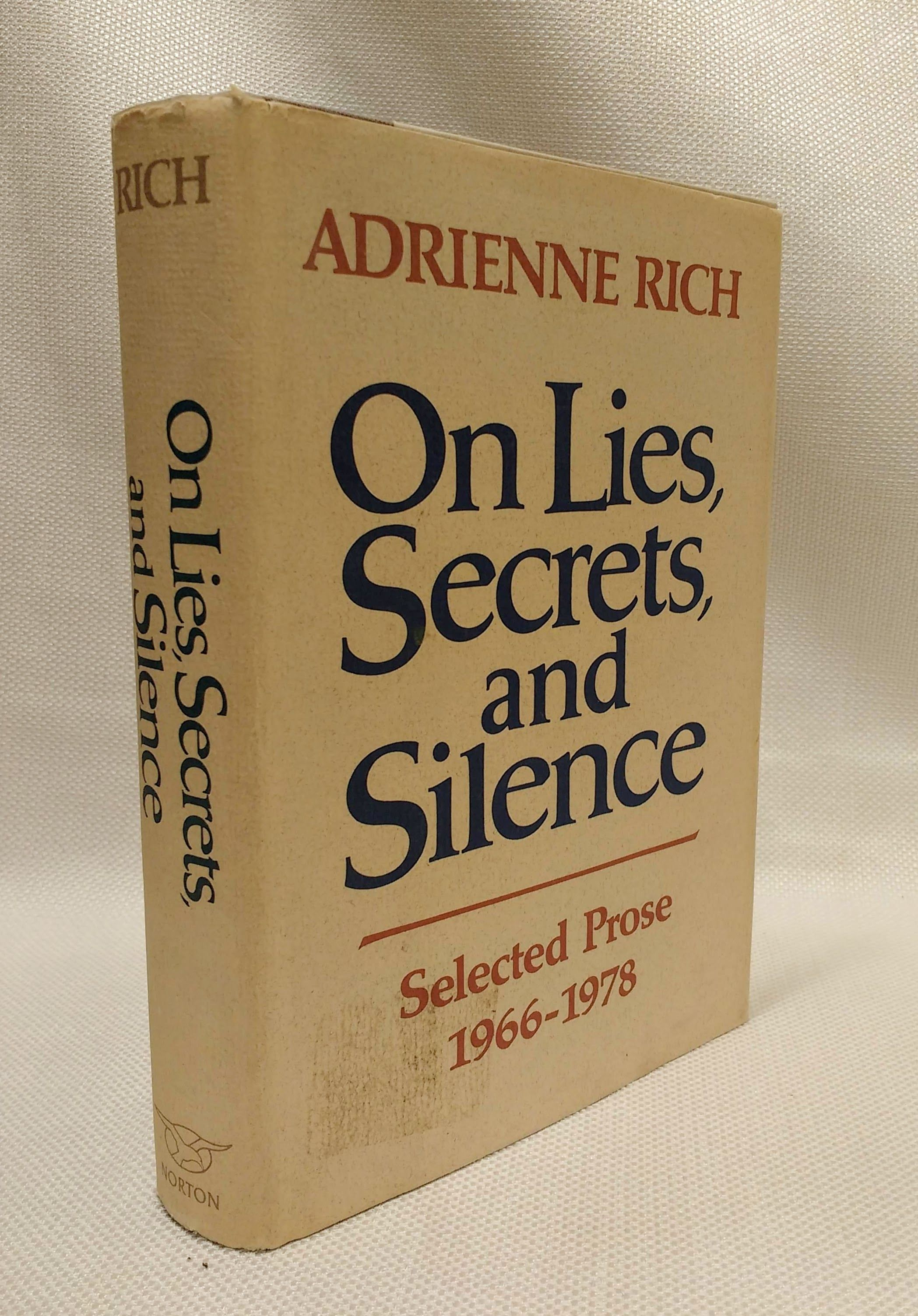 On Lies, Secrets, and Silence: Selected Prose 1966 - 1978, Adrienne Rich