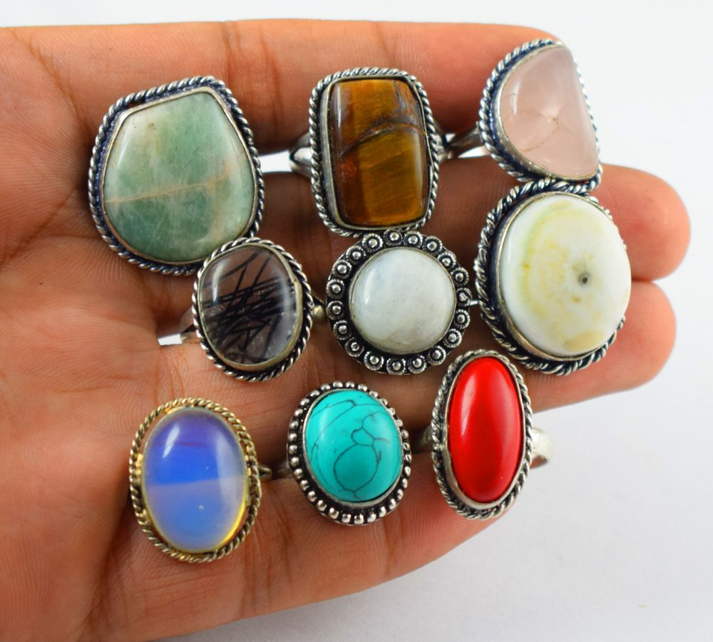 The Sun Jewelry Charming Vintage Tibet Silver Turquoise Rings Fashion Female Jewelry Size 5-10 6