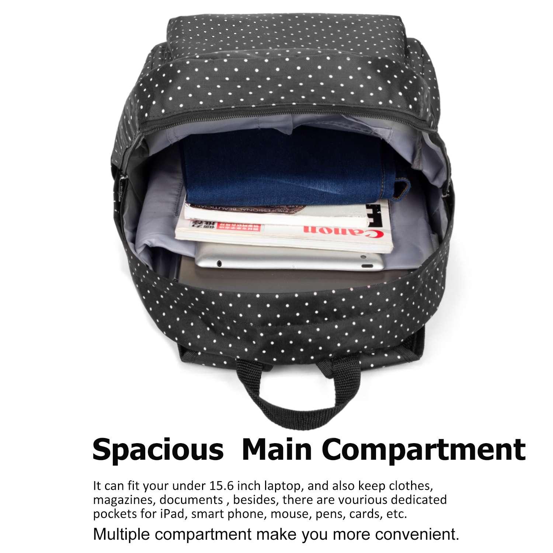 EK Sac /à dos pour ordinateur portable avec port de charge USB R/ésistant /à leau 15,6 bleu marine