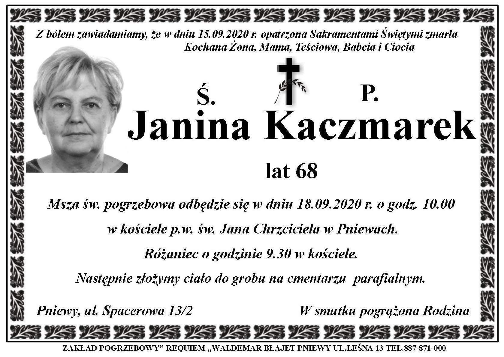 Żyli wśród nas – Janina Kaczmarek
