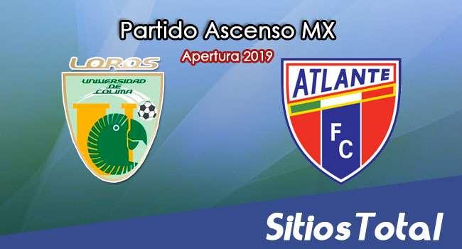 Ver Loros de la Universidad de Colima vs Atlante en Vivo – Ascenso MX en su Torneo de Apertura 2019