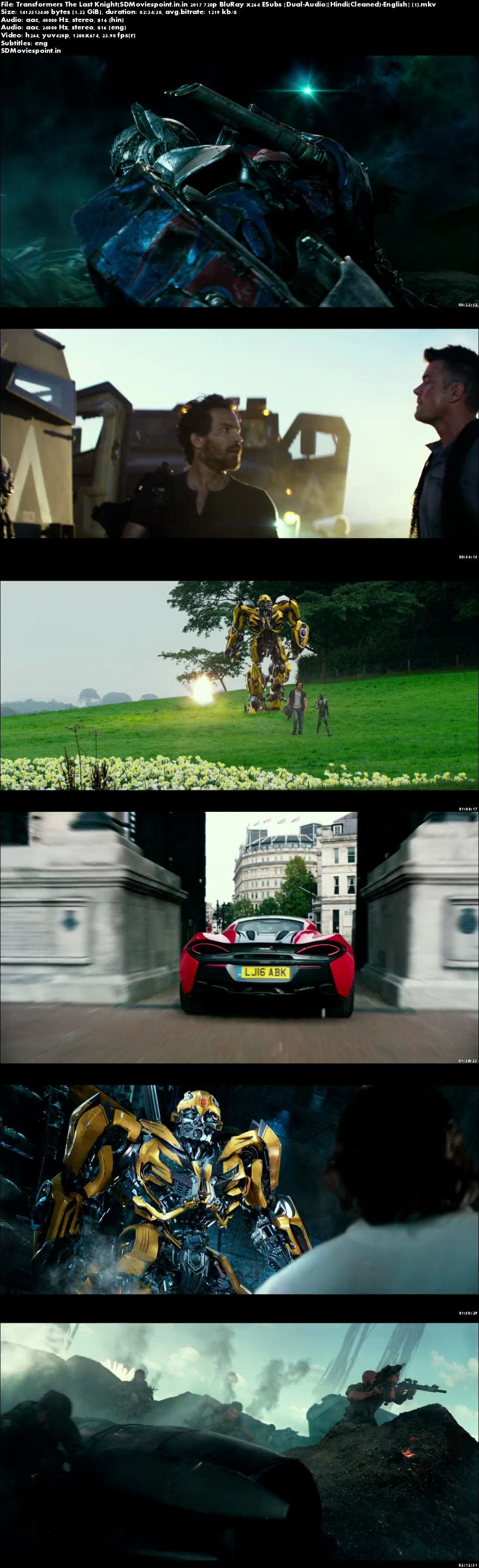 Screen Shots Transformers: The Last Knight (2017) Full Hindi Movie Download Dual Audio