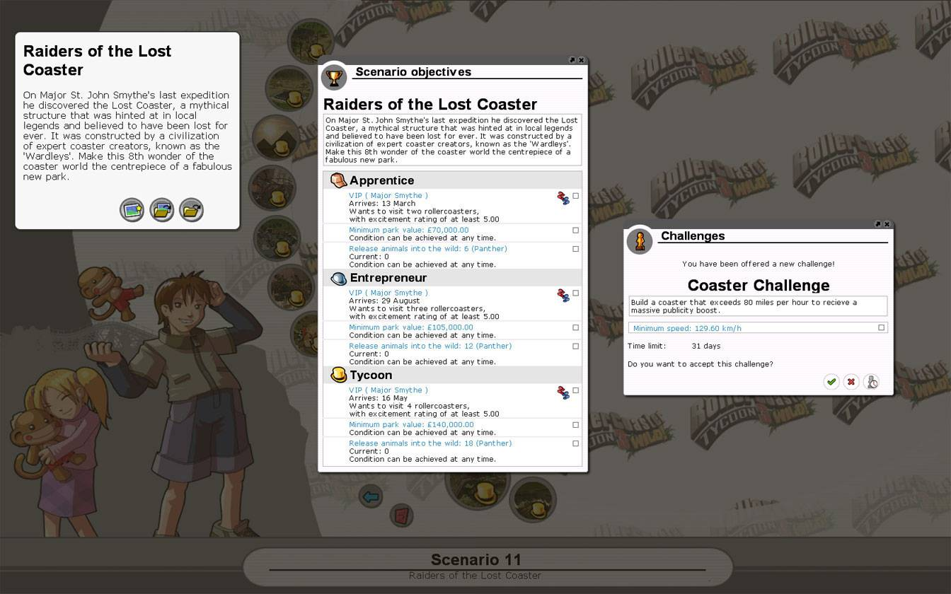 Scenario Information Image for FlightToAtlantis.net: RCT3 FAQ: Campaign Scenario Directory Specifics: Raiders of the Lost Coaster