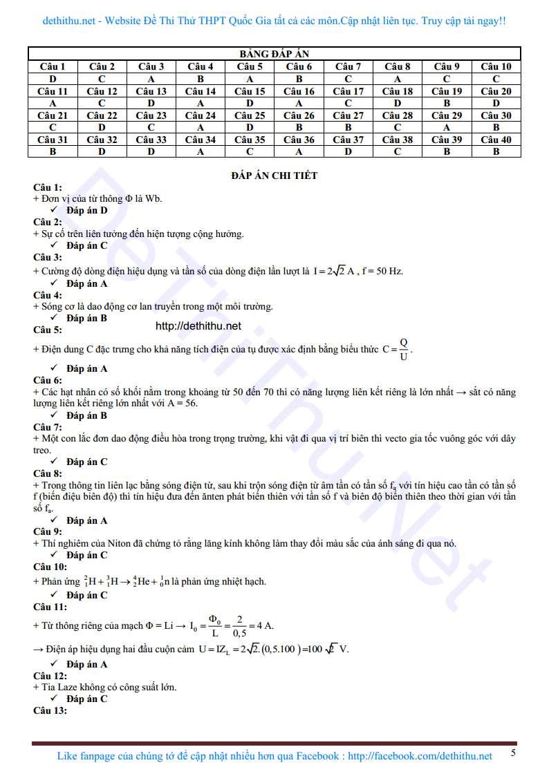 De thi mon Ly THPT Chuyen Ha Tinh 2018 dap an giai chi tiet trang 15