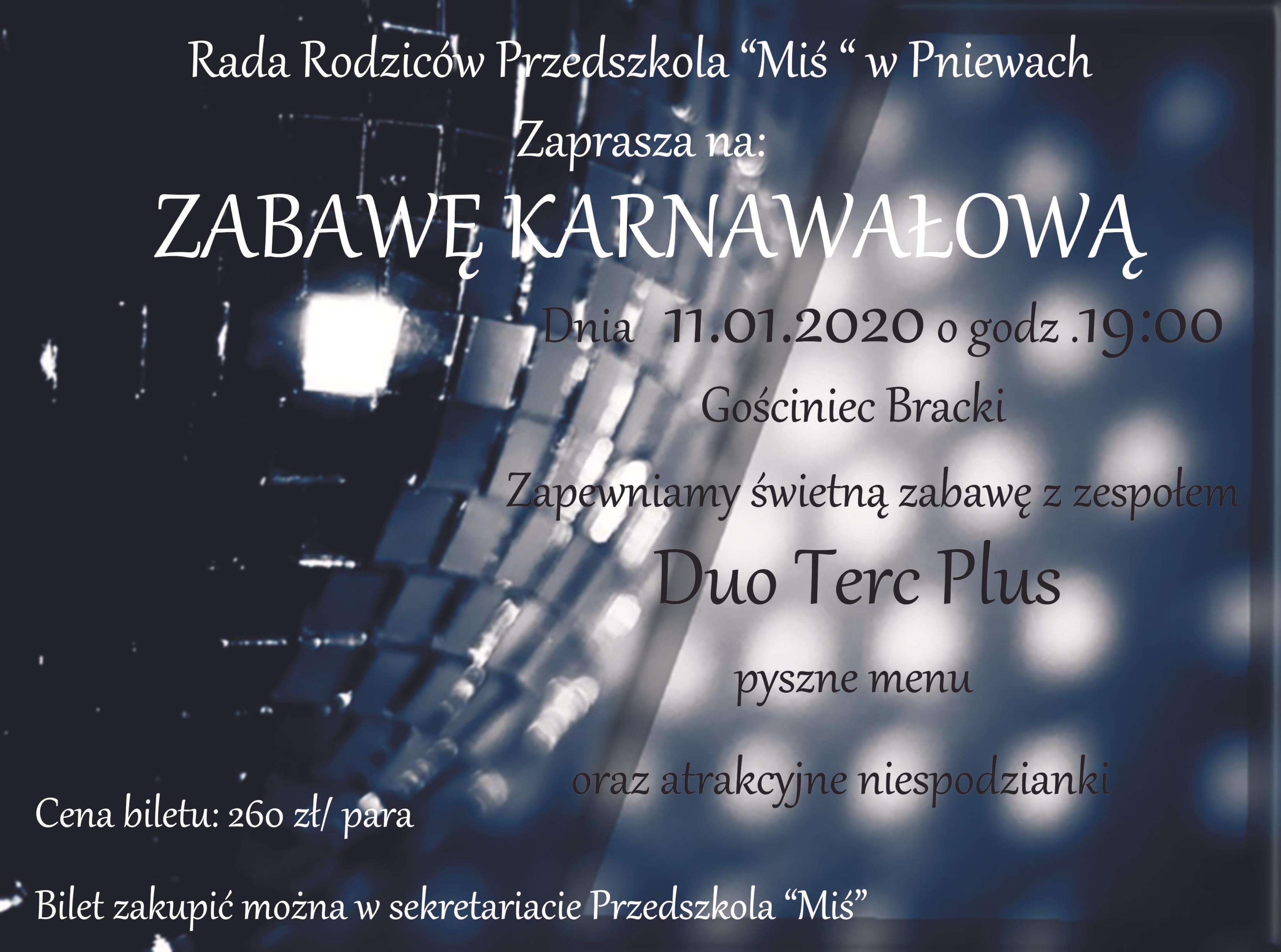 Zaproszenie nazabawę
