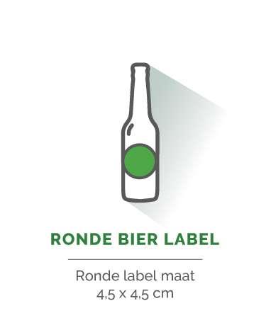 bier label rond 4,5x4,5cm