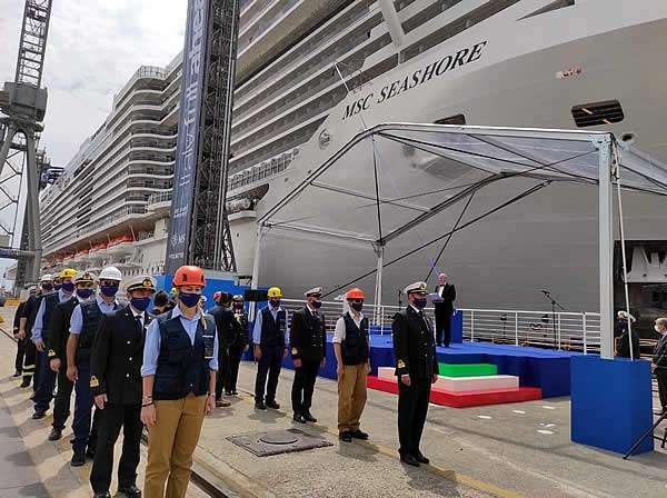 MSC Seashore ya es oficialmente parte de la familia de MSC Cruceros