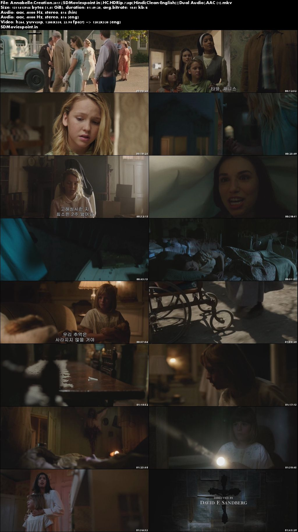 Screen Shots Annabelle: Creation (2017) Full HD Movie Download in Hindi Dubbed