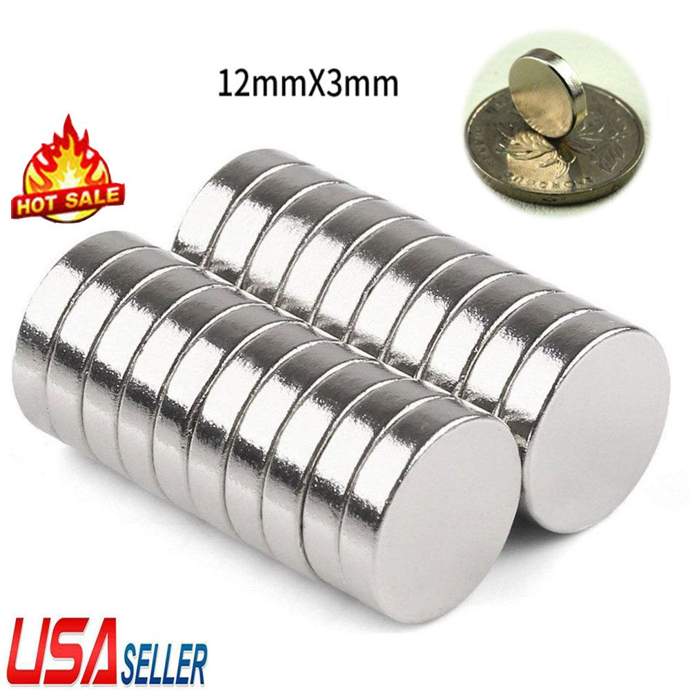 5-50Pcs Super Strong Round Disc Magnets Rare-Earth Neodymium Magnet 12mm*3mm N52