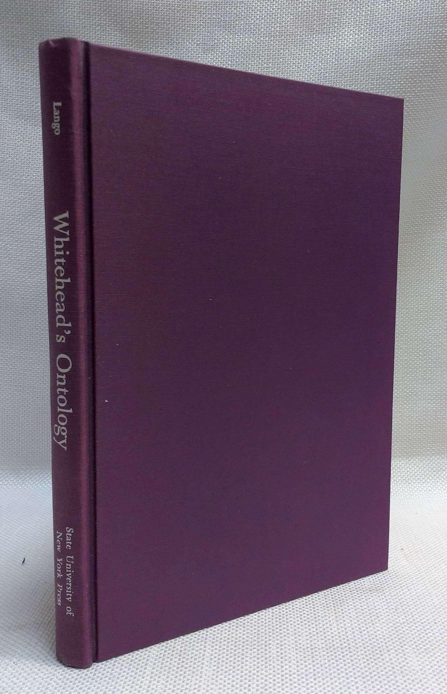 Whitehead's Ontology, Lango, John W.