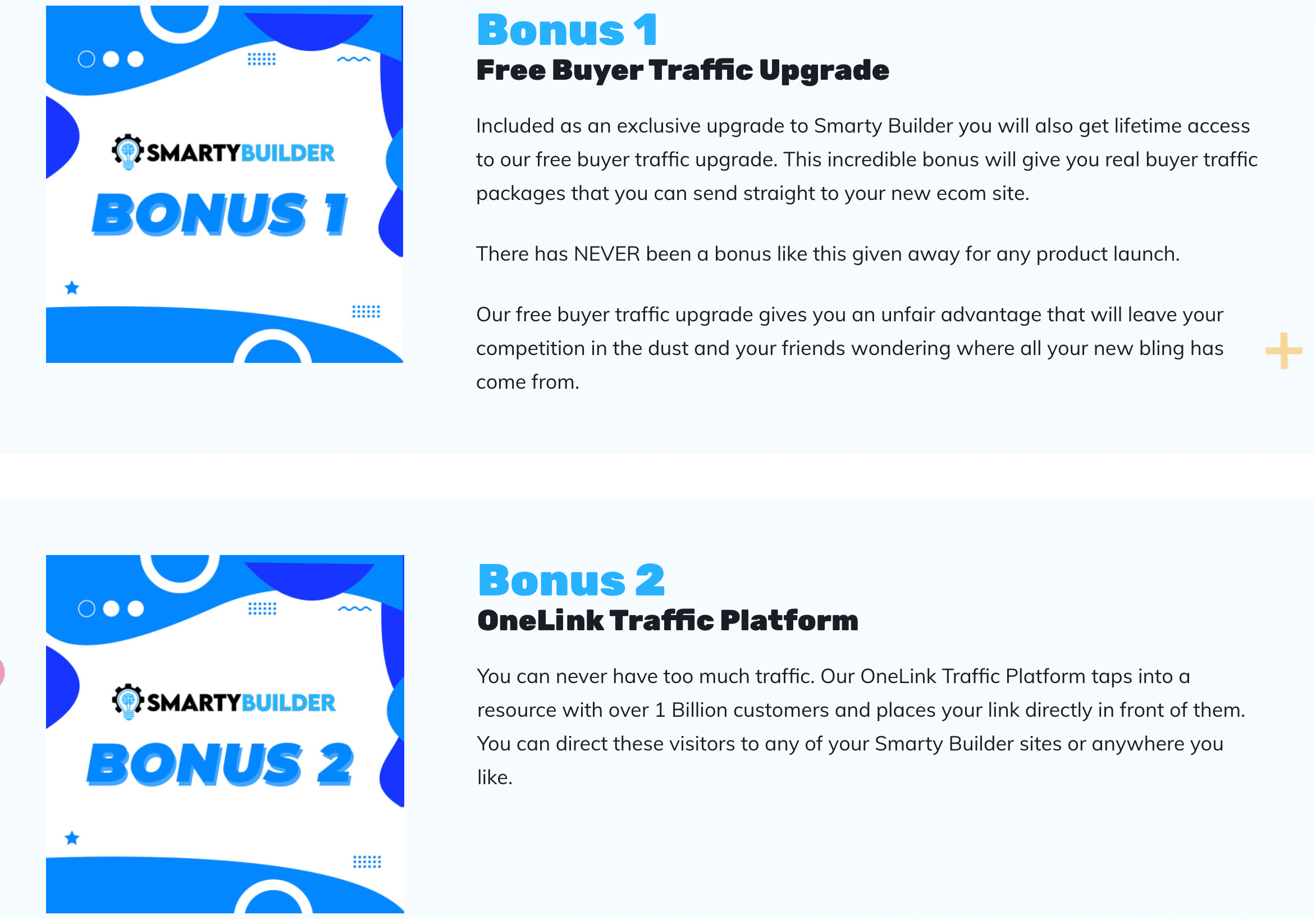 smarty builder bonuses