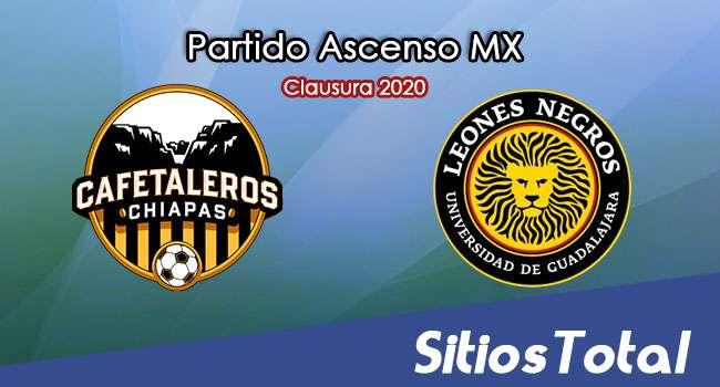 Ver Cafetaleros de Chiapas vs Leones Negros en Vivo – Ascenso MX en su Torneo de Clausura 2020
