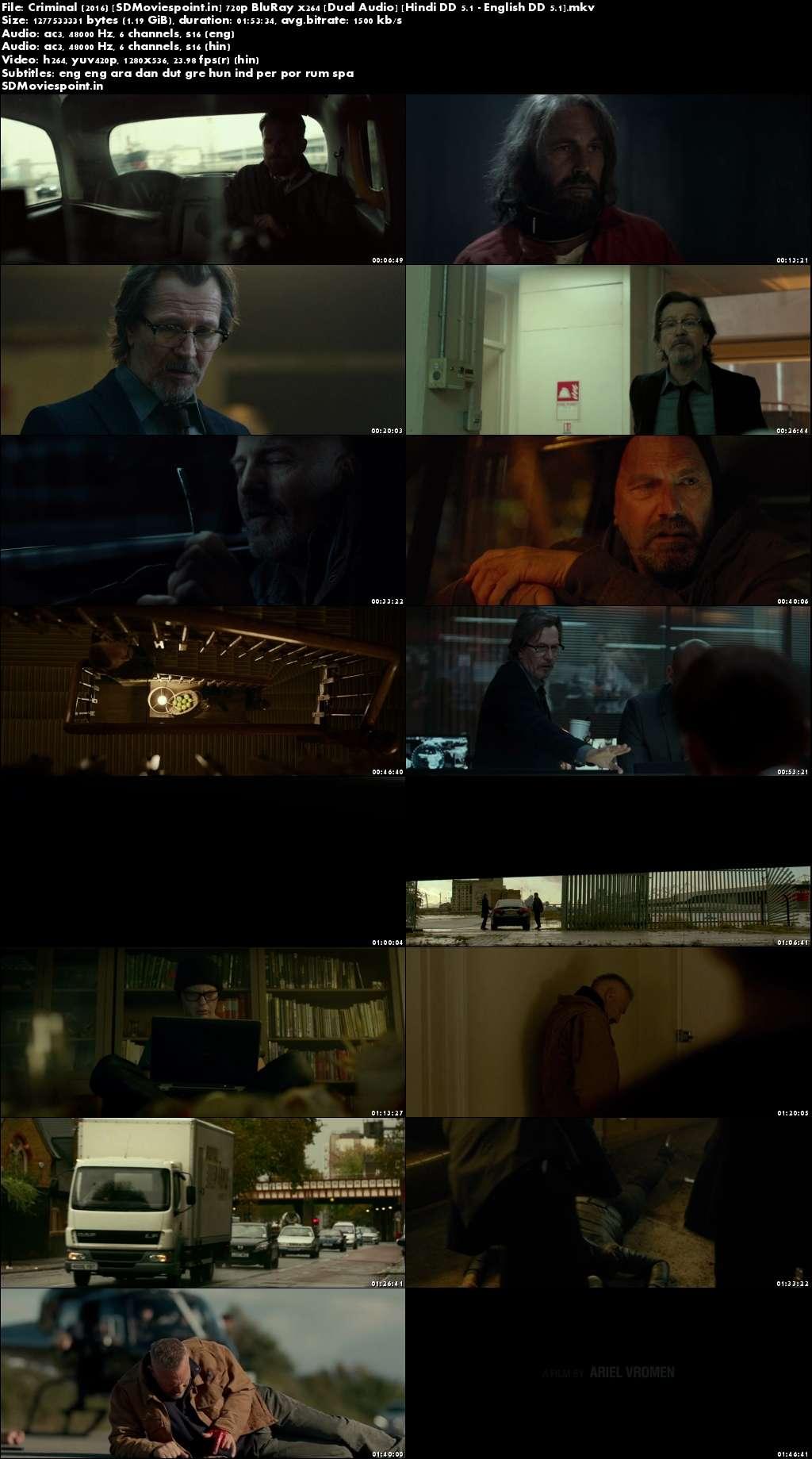 Screen Shot Criminal (2016) Full HD Movie Download Hindi Dubbed Dual Audio 720p