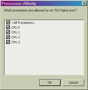 Image 05, HowTo's - Is RCT3 Utilizing All My Processors?