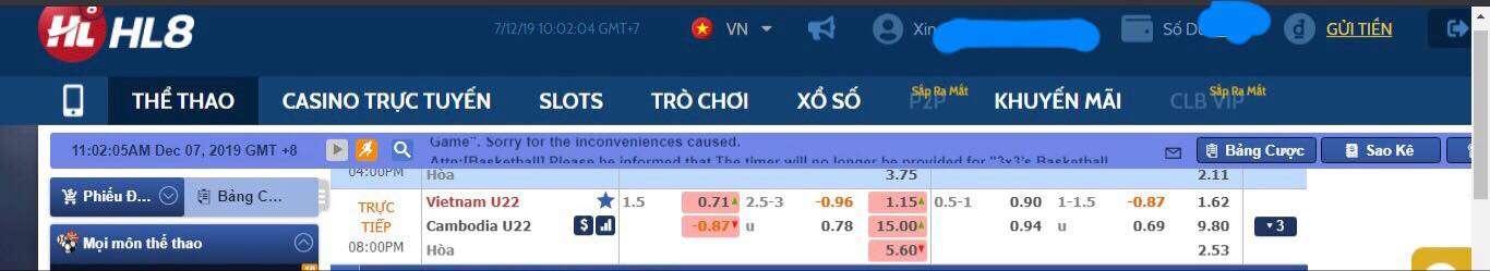 """Dự đoán tỷ số """"Việt Nam - Cambodia"""""""