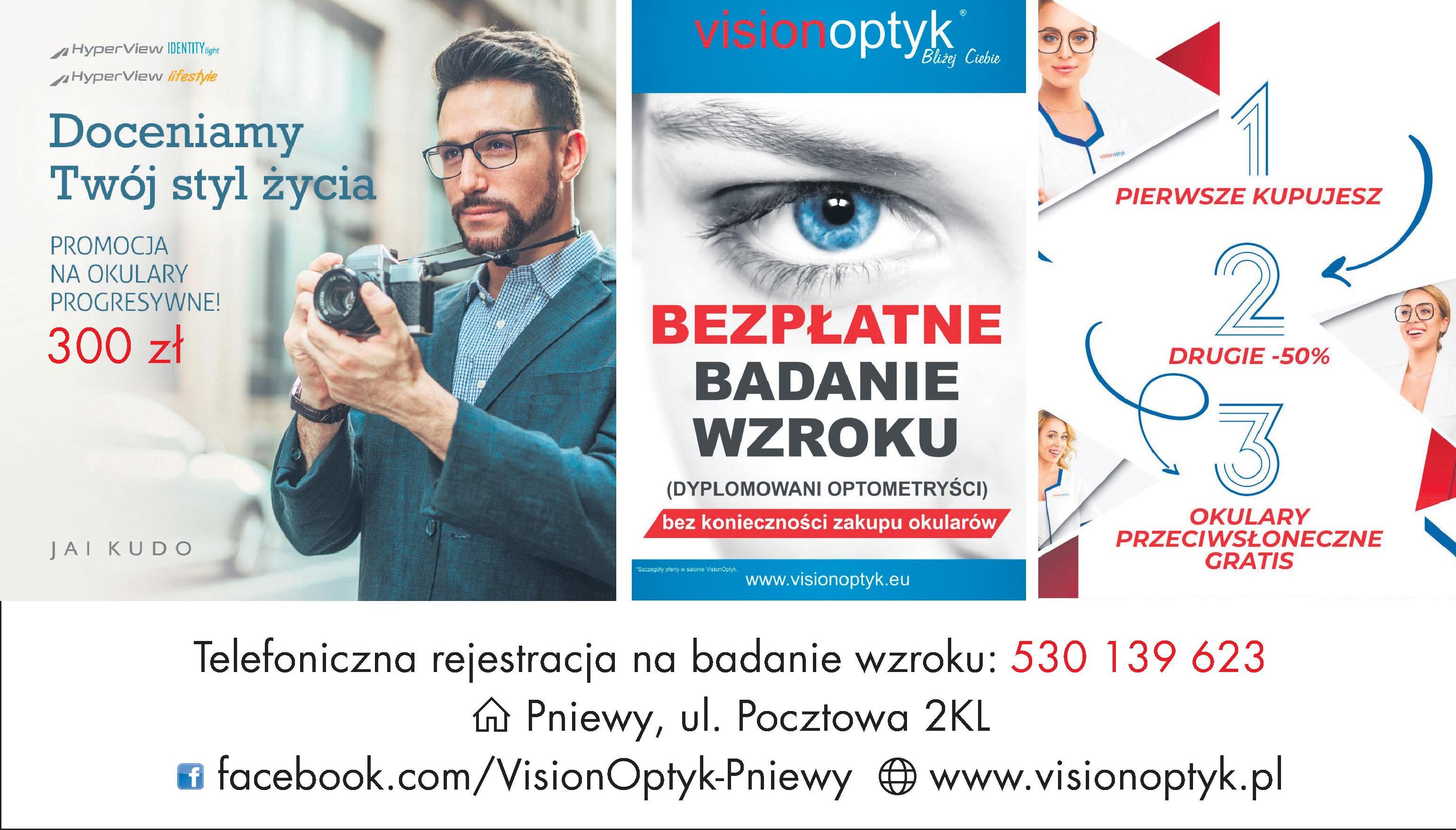 Vision Optyk Pniewy zaprasza