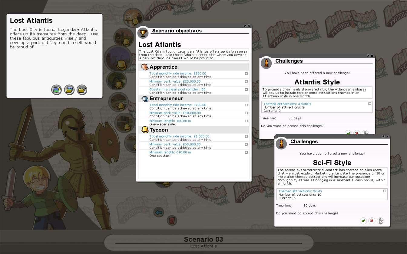 Scenario Information Image for FlightToAtlantis.net: RCT3 FAQ: Campaign Scenario Directory Specifics: Lost Atlantis