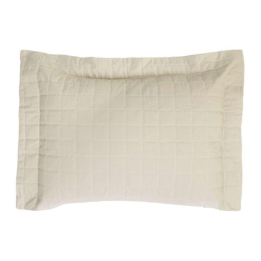 Porta Travesseiro Montreal 150 Fios Algodão Macio Marfim