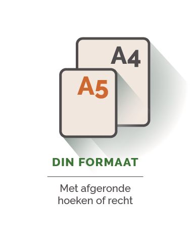 Din formaat stickers