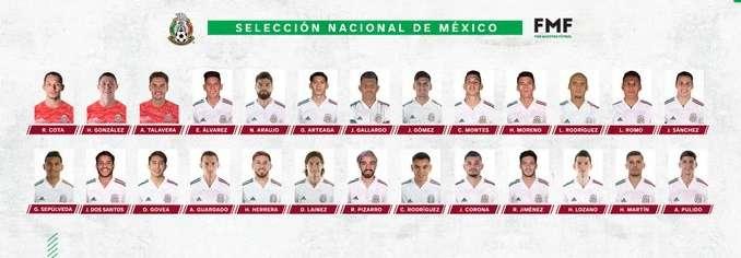 Convocados de México  para enfrentar a Holanda y Argelia